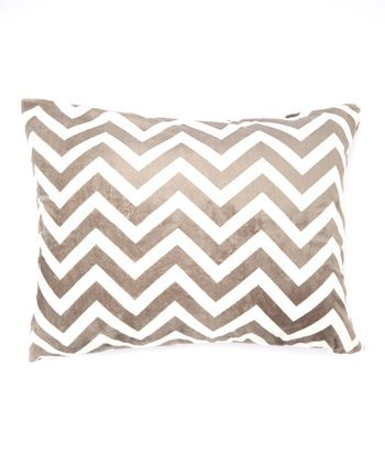 Gray Zigzag Minky Pillowcase