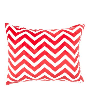 Red Zigzag Minky Pillowcase