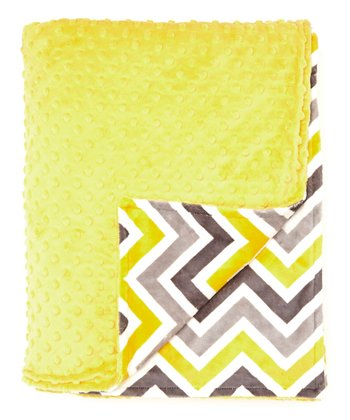 Sunshine & Gray Zigzag Minky Throw