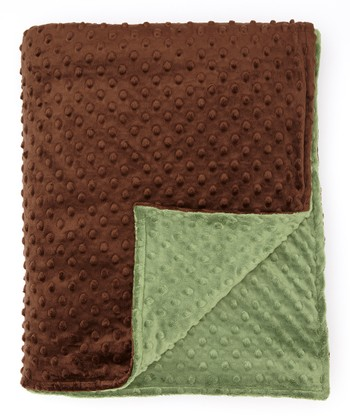 Olive & Brown Minky Throw