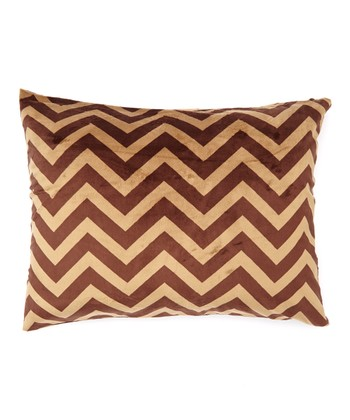 Cappuccino Zigzag Minky Pillowcase
