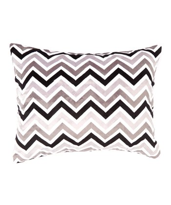 Black & Gray Zigzag Minky Pillowcase