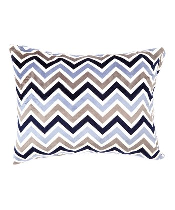 Navy & Gray Zigzag Minky Pillowcase