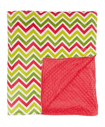 Melon Zigzag Minky Throw