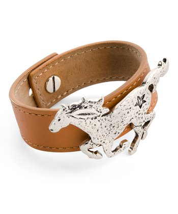 Tan Rodeo Drive Faux Leather Bracelet