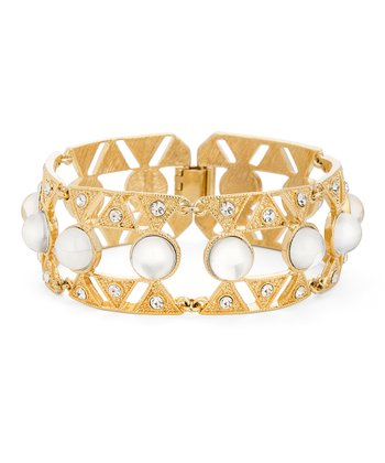 Gold Bombshell Hinged Bangle