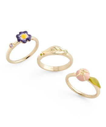 Gold Garden Party Ring Set