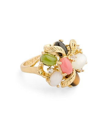 Gold Gem Bouquet Ring