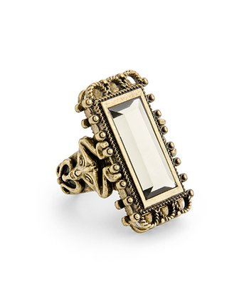 Brass Opulent Rock Ring