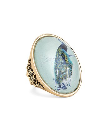 Gold Peacock Ring