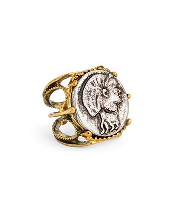 Gold & Silver Ancient Coin Ring