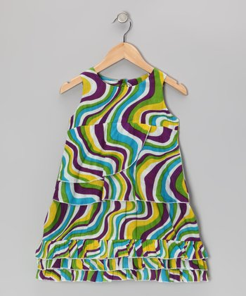 Lime Swirl Swing Dress - Toddler & Girls