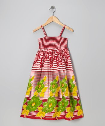 Red Stripe Convertible Dress - Toddler & Girls