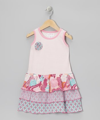 Blushing Bride Water Garden Tier Dress - Toddler & Girls