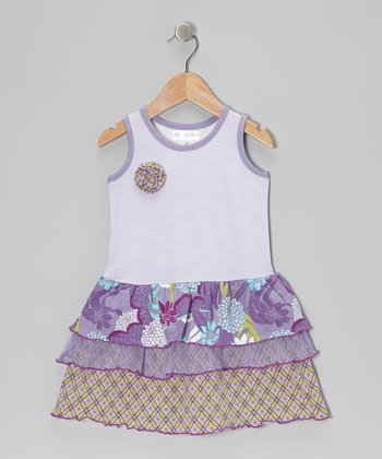 Lavender Water Garden Tier Dress - Toddler & Girls