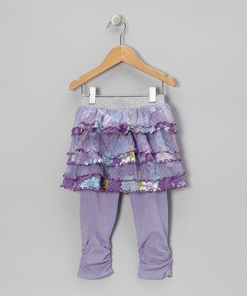 Lavender Water Garden Skirted Leggings - Toddler & Girls