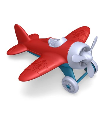 Red Recycled Airplane