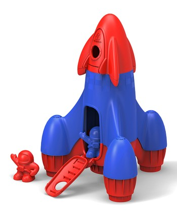 Blue & Red Recycled Rocket Set