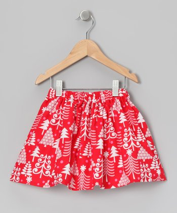 Red & White Girly Tree Skirt - Infant, Toddler & Girls
