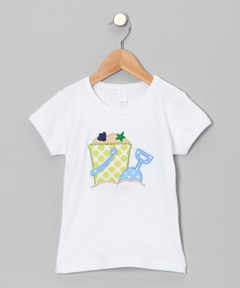 White Beach Pail Tee - Infant, Toddler & Girls