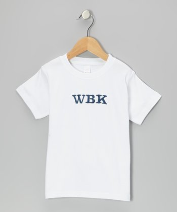 White Monogram Tee - Infant, Toddler & Boys