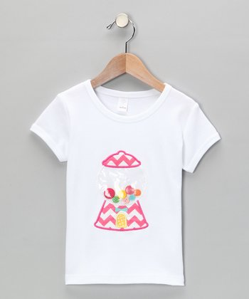 White Gumball Machine Tee - Infant, Toddler & Girls