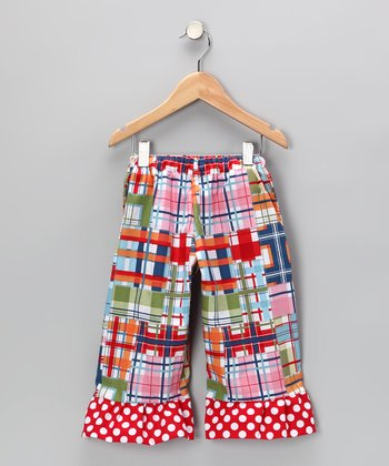 Red & Green Madras Capri Pants - Infant, Toddler & Girls