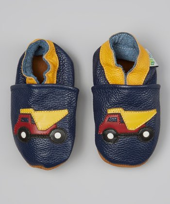 Blue & Yellow Dump Truck Booties