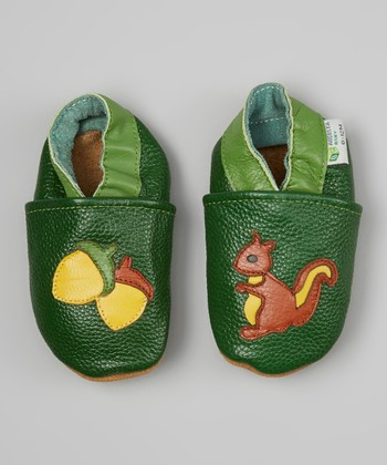 Green & Yellow Squirrel Booties