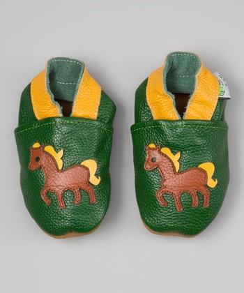 Green & Yellow Pony Booties