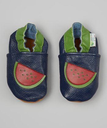 Blue & Red Watermelon Booties