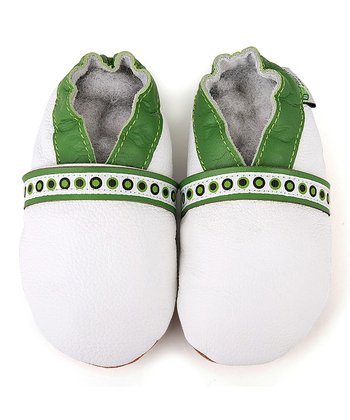 White & Green Booties