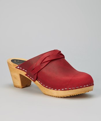 Red Dala Leather Clog - Women