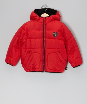 Red Protection System Ski Patrol Puffer Jacket - Toddler & Boys