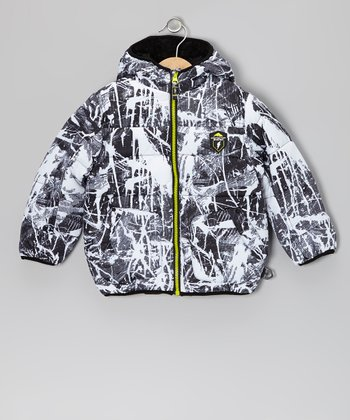 White Splatter Protection System Puffer Jacket - Boys