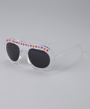 Clear Made in the Shade Sunglasses
