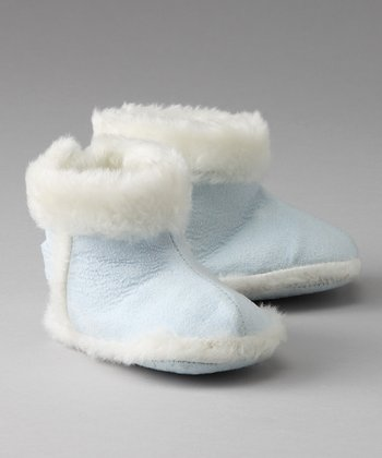 Blue Sherpa Booties