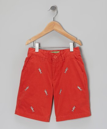 Red Island Shark Jetties Shorts - Toddler & Boys