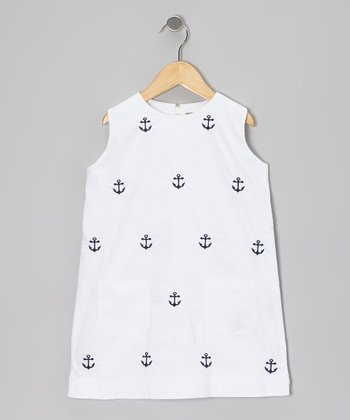 Memorial White Anchor Dress - Toddler & Girls