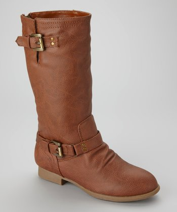 Cognac Coco Buckle Boot