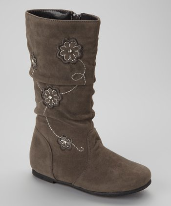 Gray Data Flower Boot