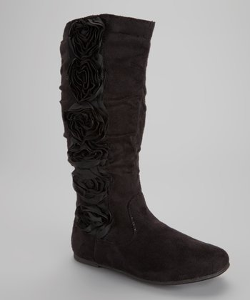 Black Data Rosette Boot - Toddler & Kids