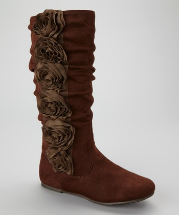 Brown Data Rosette Boot - Toddler & Kids