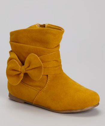 Mustard Post Bow Boot