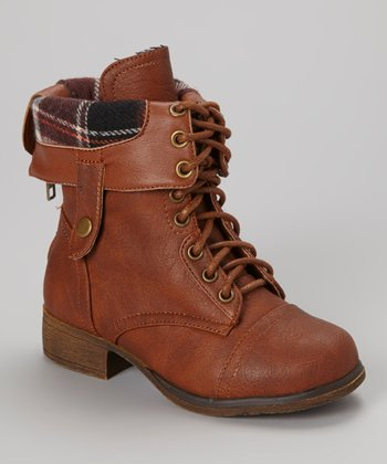 Tan Smart Lace-Up Boot