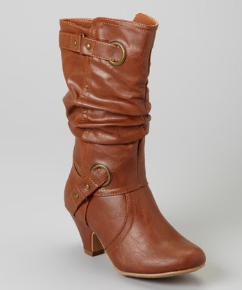 Tan Double Buckle Boot