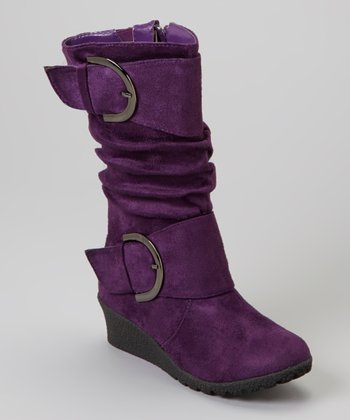 Purple Pure Buckle Boot