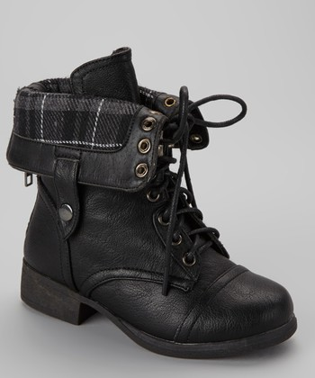 Black Smart Lace-Up Boot