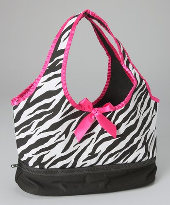White & Pink Zebra Doll Carrier