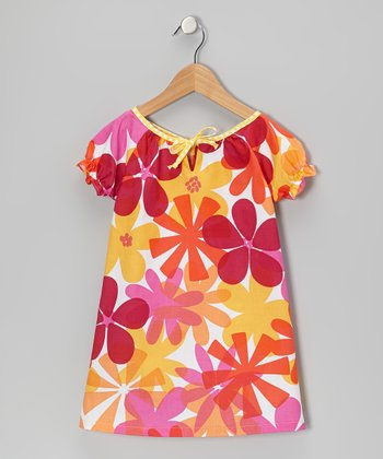 Tangerine Damask Lily Dress - Toddler & Girls